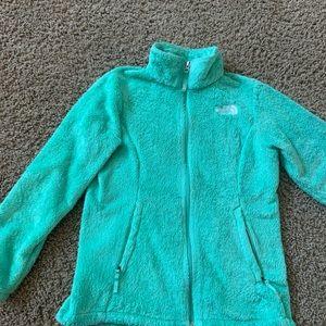 North Face, plush girls jacket